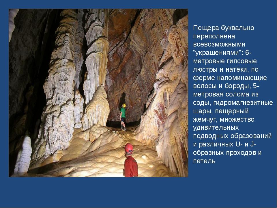 """Пещера буквально переполнена всевозможными """"украшениями"""": 6-метровые гипсовые..."""