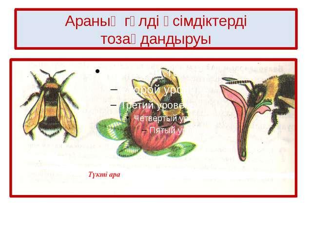Араның гүлді өсімдіктерді тозаңдандыруы