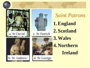 Saint Patrons England Scotland Wales Northern Ireland