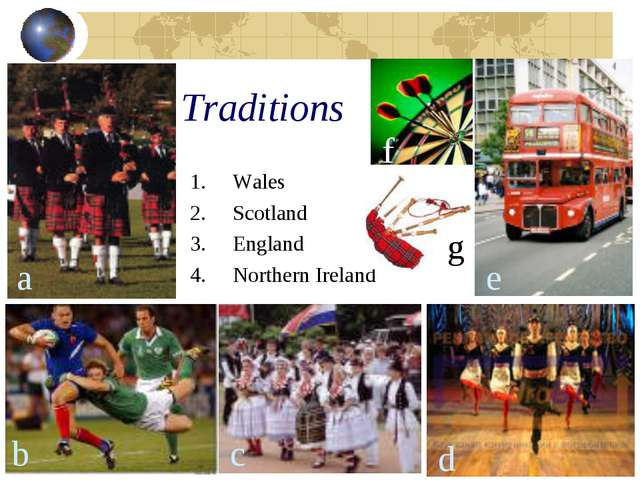 Traditions Wales Scotland England Northern Ireland