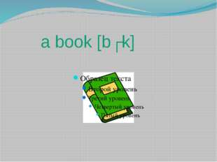 a book [bʊk]