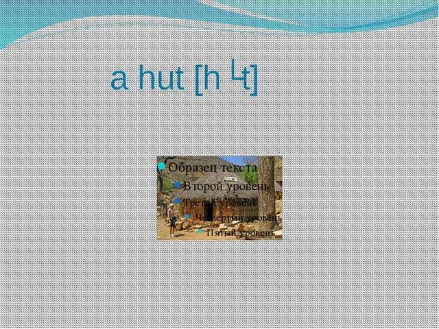 a hut [hʌt]