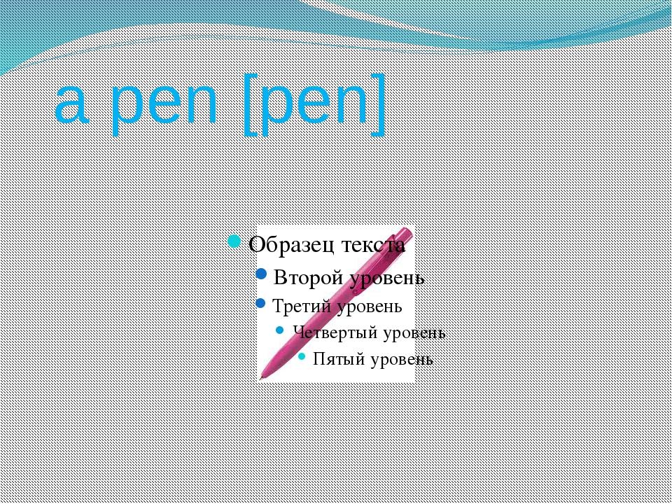 a pen [pen]