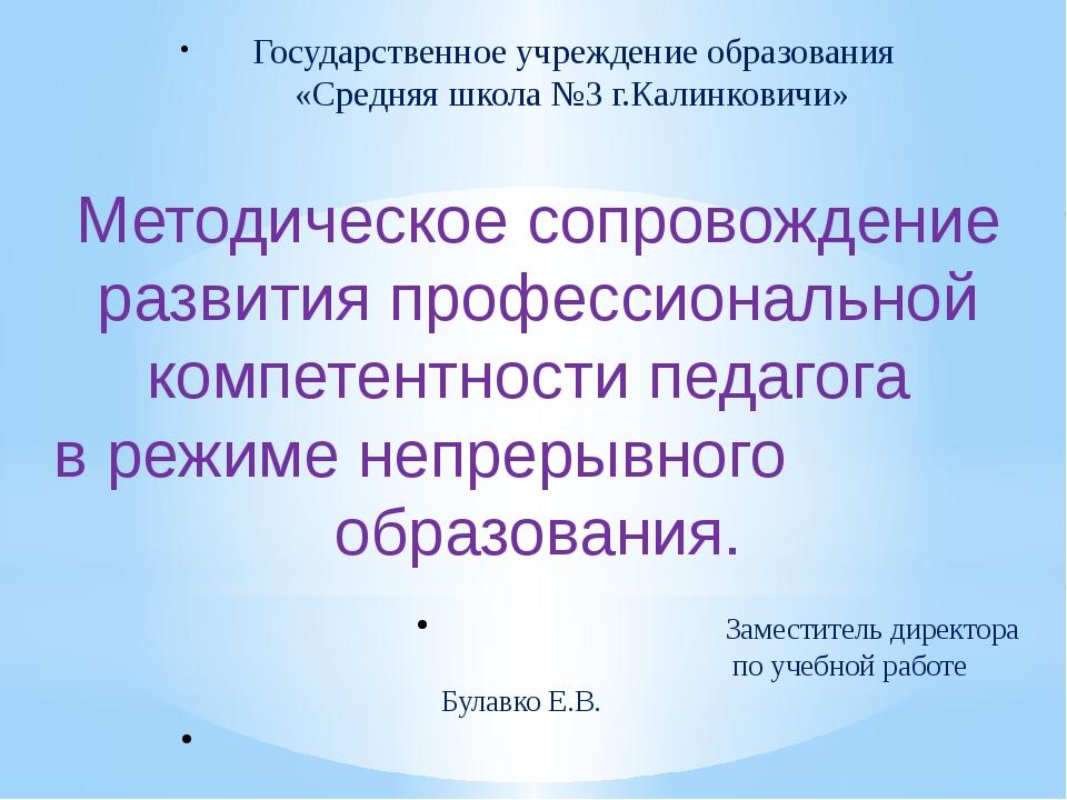 Государственное учреждение образования «Средняя школа №3 г.Калинковичи» Мето...
