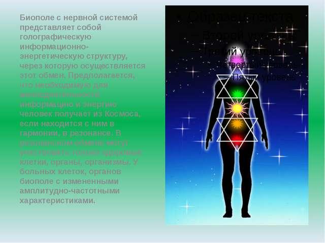 Биополе с нервной системой представляет собой голографическую информационно-...