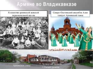 Армяне во Владикавказе Армянская улица Северо-Осетинский ансамбль Алан танцуе