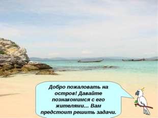 Добро пожаловать на остров! Давайте познакомимся с его жителями… Вам предстои
