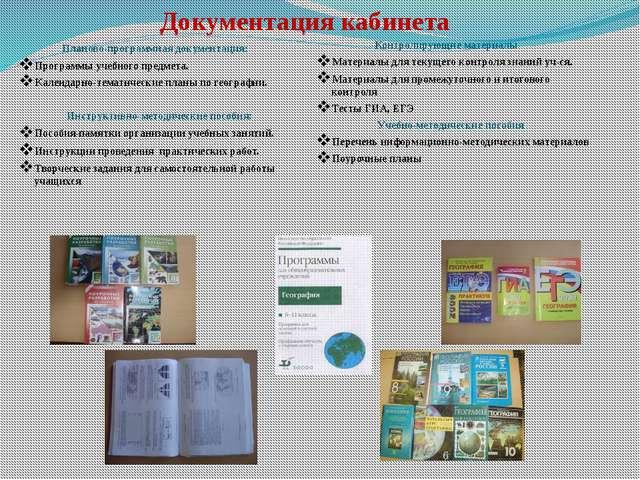 Документация кабинета Планово-программная документация: Программы учебного п...