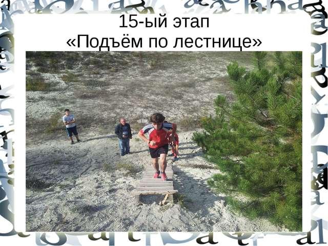 15-ый этап «Подъём по лестнице»