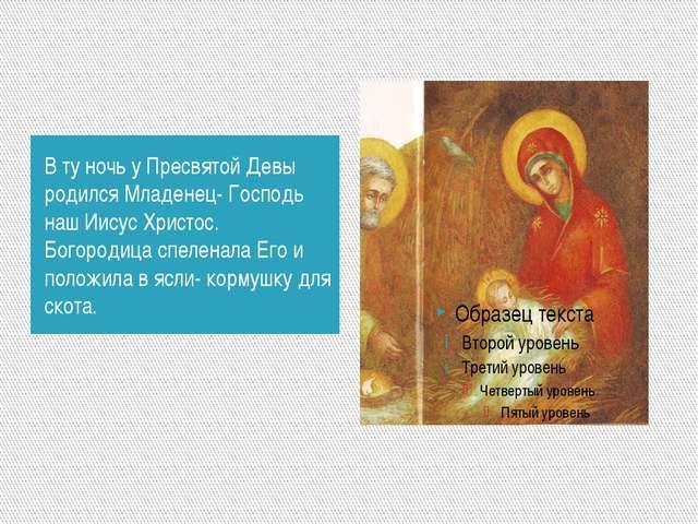 В ту ночь у Пресвятой Девы родился Младенец- Господь наш Иисус Христос. Богор...