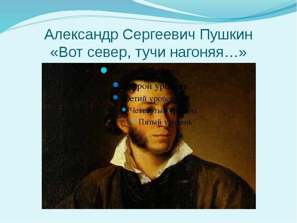 Александр Сергеевич Пушкин «Вот север, тучи нагоняя…»