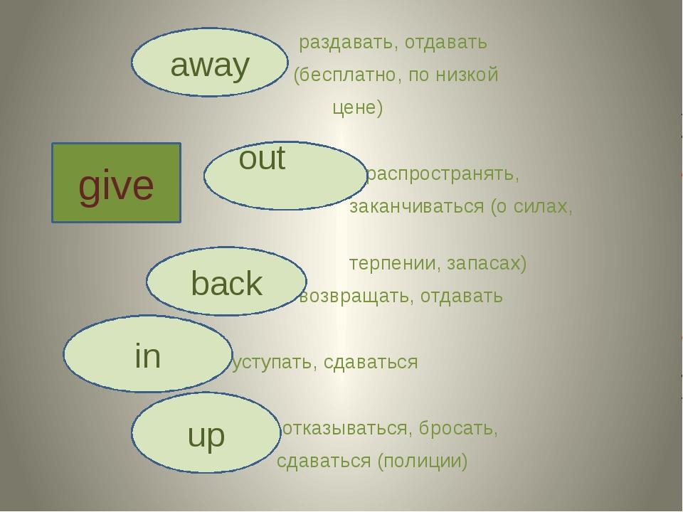 раздавать, отдавать (бесплатно, по низкой цене) распространять, заканчиватьс...