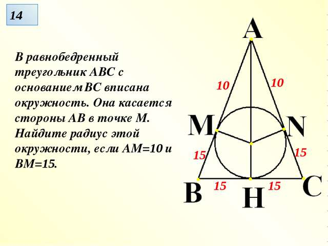 В равнобедренный треугольник АВС с основанием ВС вписана окружность. Она каса...