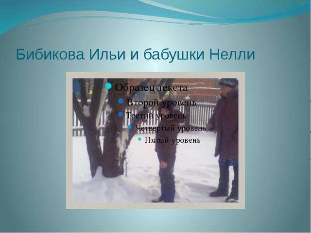 Бибикова Ильи и бабушки Нелли
