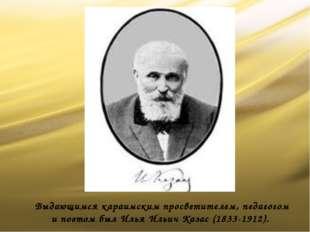 Выдающимся караимским просветителем, педагогом и поэтом был Илья Ильич Казас