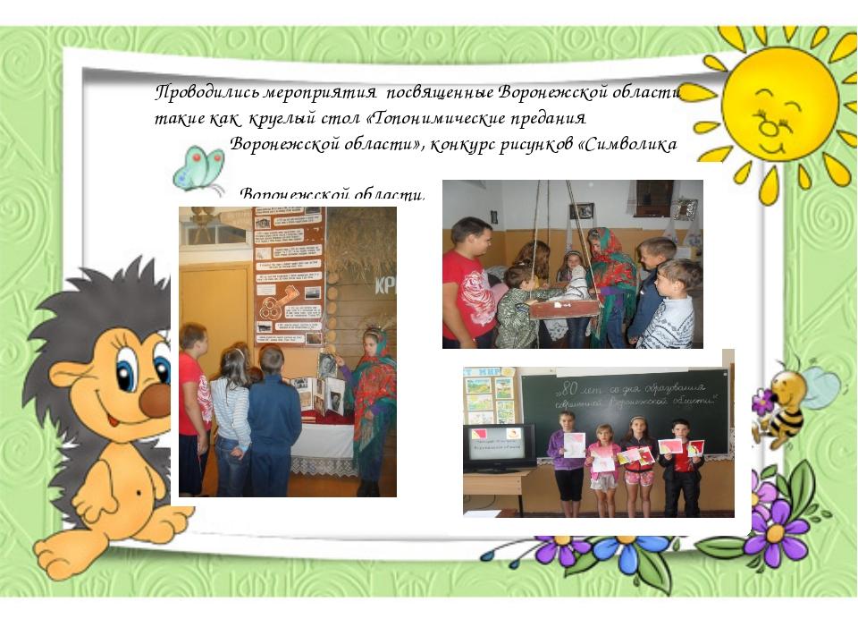 Проводились мероприятия посвященные Воронежской области такие как круглый сто...