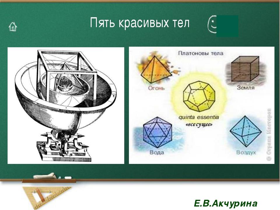 Пять красивых тел Е.В.Акчурина