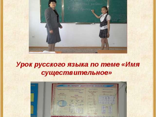 Урок русского языка по теме «Имя существительное»