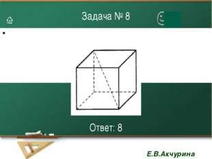 Задача № 8 Ответ: 8 Е.В.Акчурина 3112