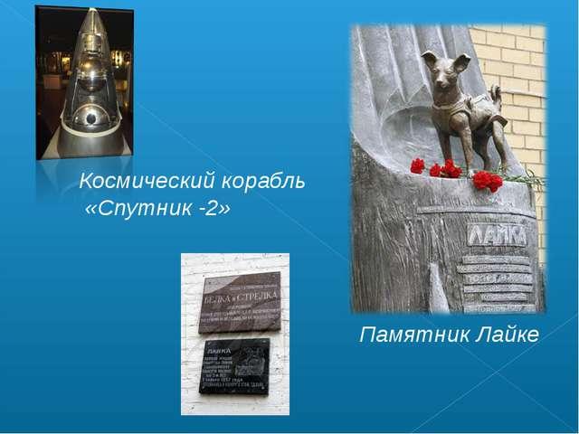 Памятник Лайке Космический корабль «Спутник -2»