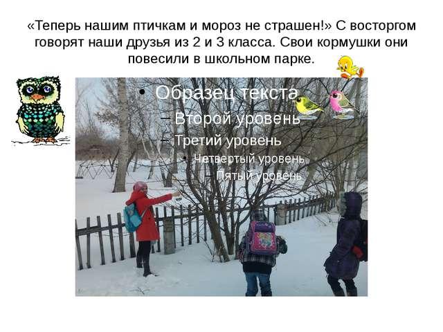 «Теперь нашим птичкам и мороз не страшен!» С восторгом говорят наши друзья из...