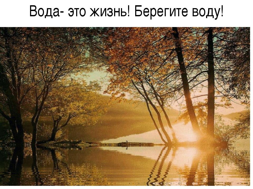 Вода- это жизнь! Берегите воду!
