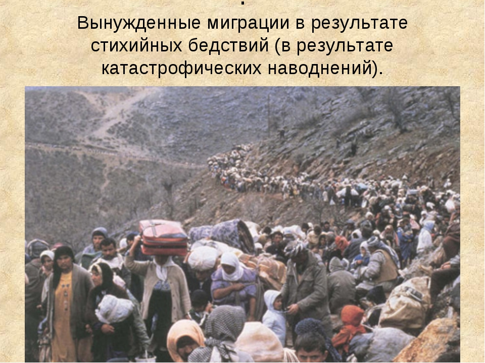 . Вынужденные миграции в результате стихийных бедствий (в результате катастро...