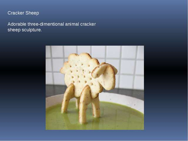 Cracker Sheep Adorable three-dimentional animal cracker sheep sculpture.