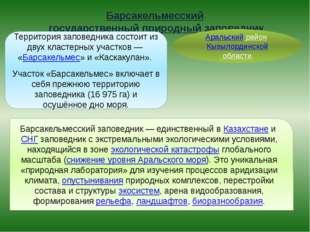 Барсакельмесский государственный природный заповедник Аральский район Кызылор