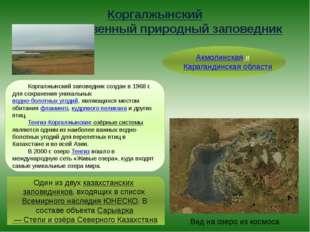 Коргалжынский государственный природный заповедник Акмолинская и Карагандинск
