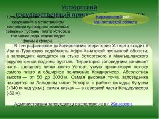 Устюртский государственный природный заповедник Каракиянский район Мангистаус