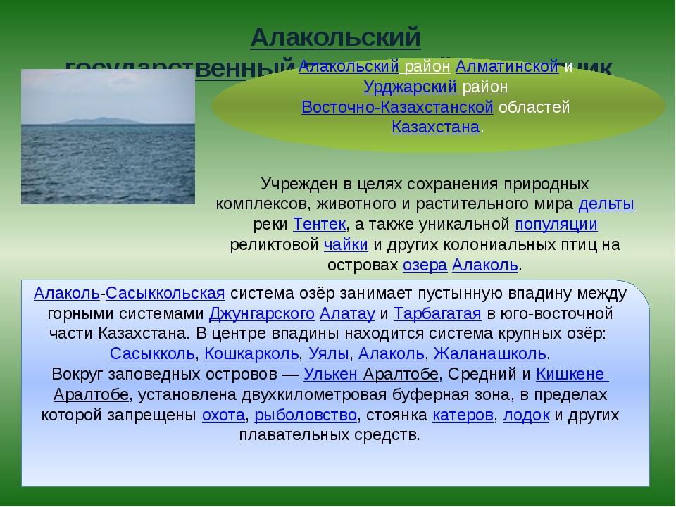 Алакольский государственный природный заповедник Алакольский район Алматинско...