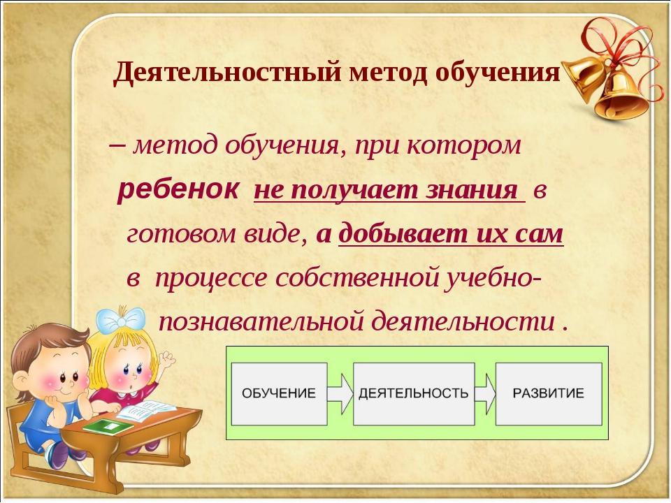 – метод обучения, при котором ребенок не получает знания в готовом виде, а д...