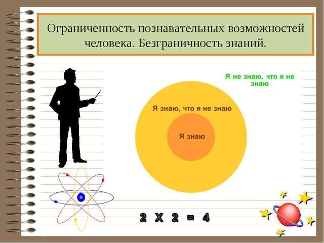 Ограниченность познавательных возможностей человека. Безграничность знаний.