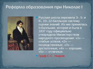 Русская школа пережила 3-, 5- и 8-, 10-,12-балльную систему оценки знаний. Из
