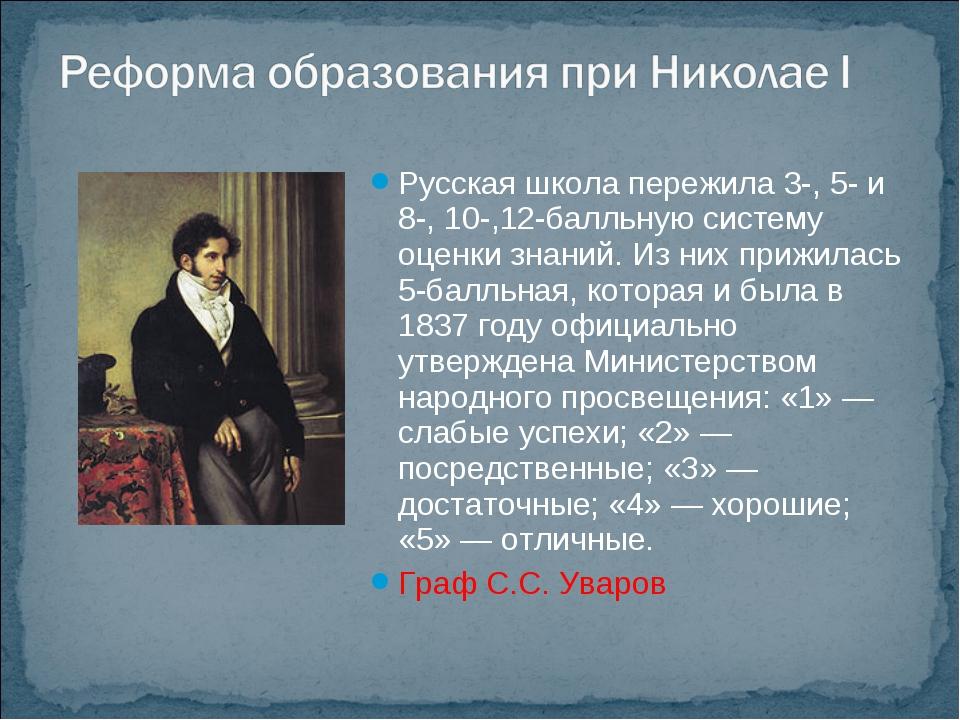Русская школа пережила 3-, 5- и 8-, 10-,12-балльную систему оценки знаний. Из...