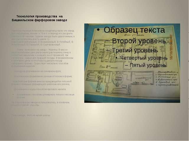 Технология производства на Бишкильском фарфоровом заводе Ковязина Наталья Але...