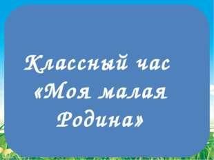Классный час «Моя малая Родина» FokinaLida.75@mail.ru
