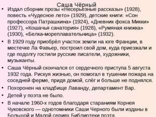 Издал сборник прозы «Несерьезные рассказы» (1928), повесть «Чудесное лето» (1