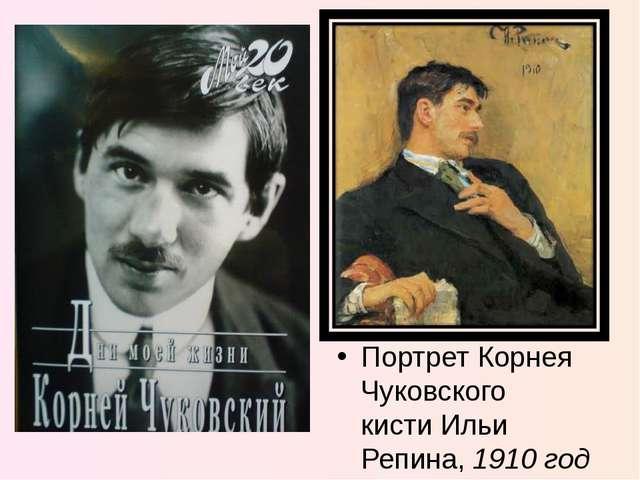 Портрет Корнея Чуковского кисти Ильи Репина, 1910 год