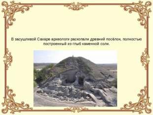В засушливой Сахаре археологи раскопали древний посёлок, полностью построенн