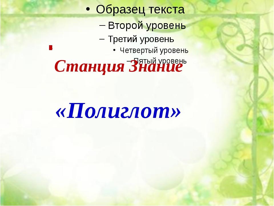 Станция Знание «Полиглот»