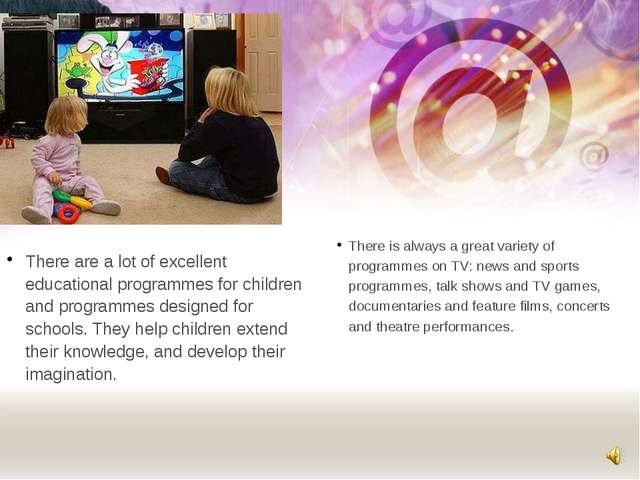 There are a lot of excellent educational programmes for children and programm...