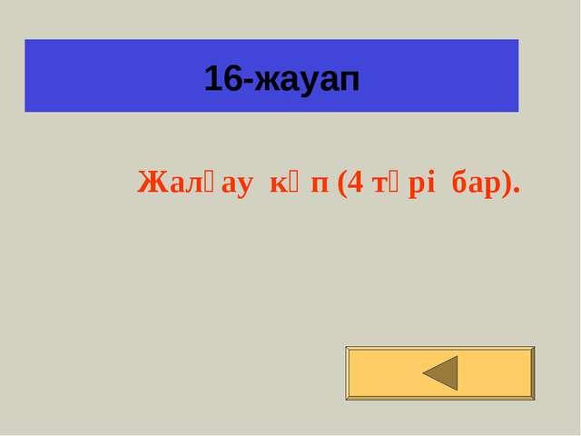 16-жауап Жалғау көп (4 түрі бар).