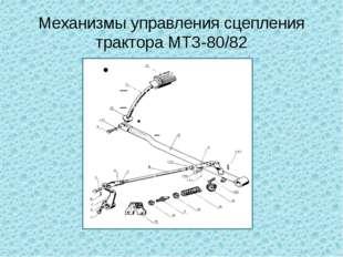 Механизмы управления сцепления трактора МТЗ-80/82