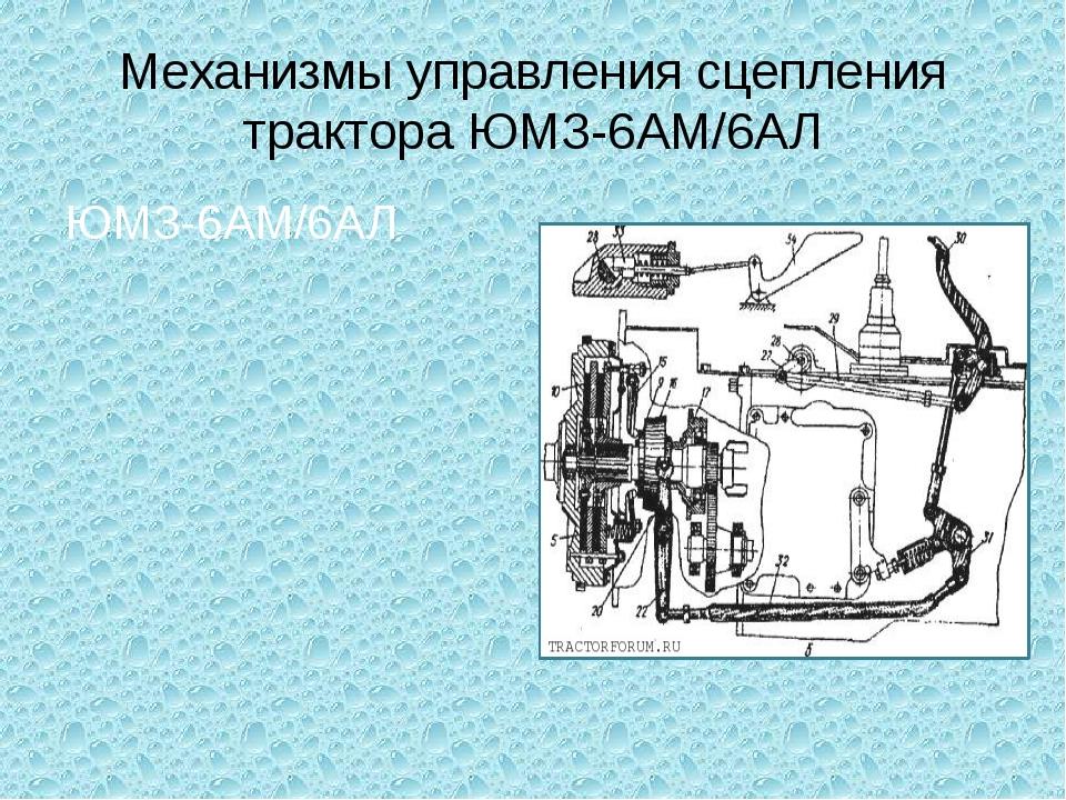Механизмы управления сцепления трактора ЮМЗ-6АМ/6АЛ ЮМЗ-6АМ/6АЛ