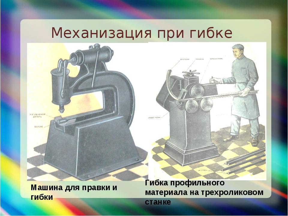 Механизация при гибке Машина для правки и гибки Гибка профильного материала н...