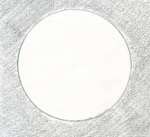 Как нарисовать Луну карандашом поэтапно?