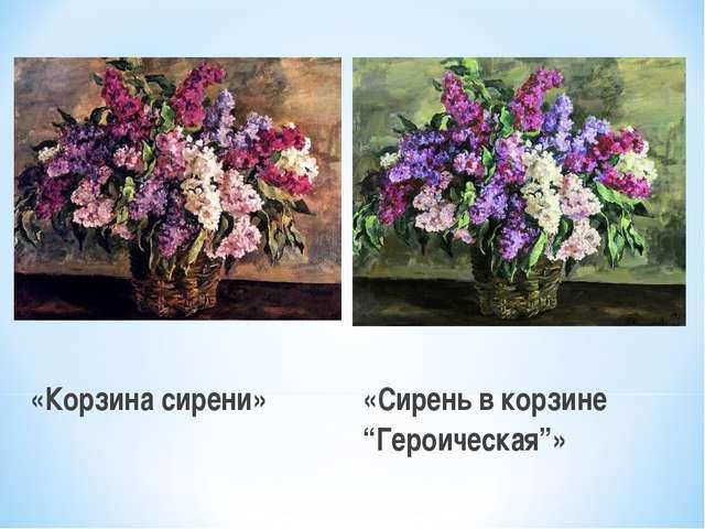 """«Корзина сирени» «Сирень в корзине """"Героическая""""»"""