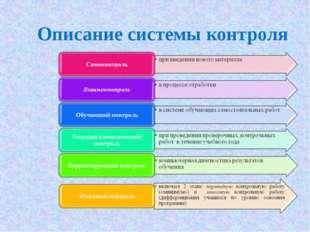 Описание системы контроля